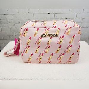 🆕️👝💄Betsey Johnson Large Cosmetic Bag Lipstick